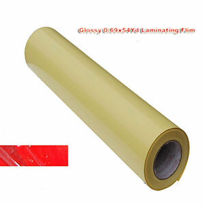 2mil Glossy Cold Laminating Film For Laminator 0 69x54yd 25 x164 Advertising
