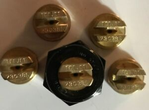 Teejet Tp730385 Spray Tip Brass Lot Set Of 5 With Free Caps