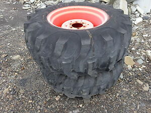 Titan 17 5l 24 Tractor Tires Excellent Tread Kubota Backhoe Loader Ag Tread