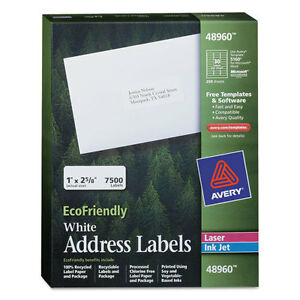 Ecofriendly Laser inkjet Easy Peel Mailing Labels 1 X 2 5 8 White 7500 pack