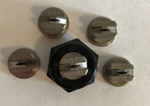 Teejet Ss 8006 E Flat Spray Tip Stainless Steel Lot Of 5 With Free Caps