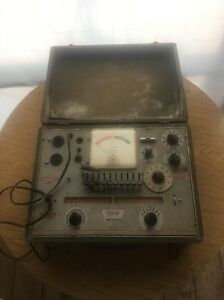 Vtg Triplett 3414 Radio Television Tube Elements Tester Testing Tubes Data As Is