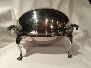 Mappin Webb Silver Plated Soup Tureen With Silver Serving Spoon
