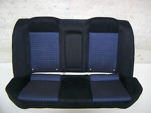03 2005 Mitsubishi Evo 8 Oem Rear Back Seats Nice Black Blue Cloth Evolution