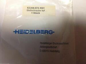 Heidelberg Adjustment Screw Part 63 030 572