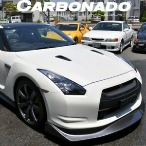 08 11 Gtr R35 Cba Ams Style Carbon Fiber Front Lip Spoiler Body Kit For Nissan