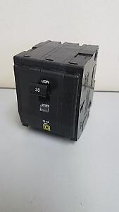 Square D Circuit Breaker Qo330 30 Amp 240 Volt 3 Pole Plug In Warranty