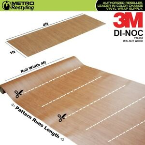 3m Di noc Walnut Wood Grain Vinyl Wrap Sheet Film Sticker Decal Roll Adhesive