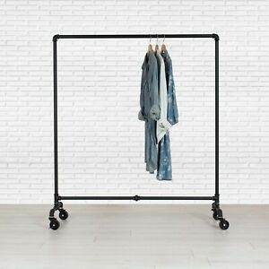 Industrial Pipe Rolling Clothing Rack Dress Rack By William Robert s Vintage