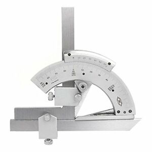 0 320 Universal Stainless Steel Vernier Bevel Protractor Precision Angle Ruler
