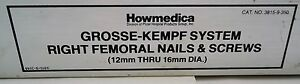 Stryker Howmedica Gross kempf Right Femoral Nail Screw 3815 9 350