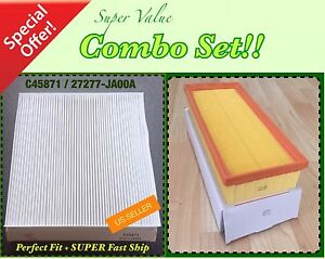 Combo Set Engine Cabin Air Filter For Nissan Altima 07 12 2 5l Only Great Fit