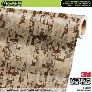 Digital Desert Camouflage Vinyl Car Wrap Camo Film Decal Sheet Roll Adhesive