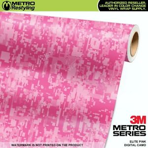 Digital Elite Pink Camouflage Vinyl Car Wrap Camo Film Decal Sheet Roll Adhesive