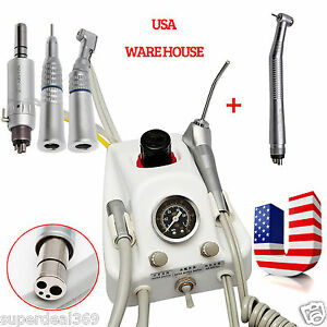 From Usa Portable Dental Turbine Unit Nsk High low Speed Handpiece Kit 4 Holes