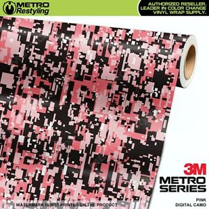 Digital Pink Camouflage Vinyl Car Wrap Camo Film Decal Sheet Roll Adhesive
