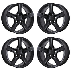 18 Chevrolet Camaro 1lt Black Wheels Rims Factory Oem 2016 2017 2018 Set 4 5758