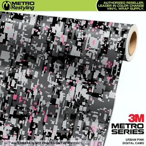 Digital Urban Pink Camouflage Vinyl Car Wrap Camo Film Decal Sheet Roll Adhesive