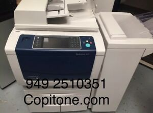 Xerox Wc 5875 workcenter copier printer color Scan clean b56 Finisher