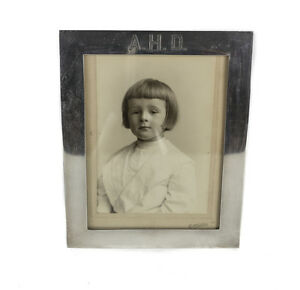 George A Henckel Sterling Silver Photo Frame Sepia Photo Young Boy C1920