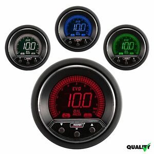 Prosport 52mm Evo Premium Digital 4 Colors Led Oil Pressure Gauge Bar Metric
