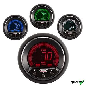 Prosport 52mm Evo Premium Digital 4 Colors Led Fuel Pressure Gauge Bar Metric