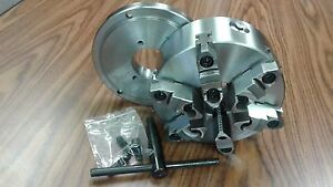 8 6 jaw Self centering Lathe Chuck W Top bottom Jaws D1 4 Adapter Back Plate