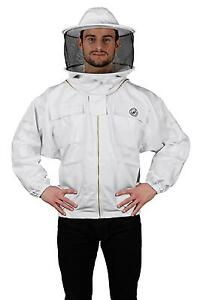 Humble Bee 310 Polycotton Beekeeping Jacket With Round Veil large