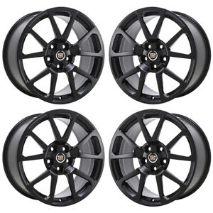 19 Cadillac Cts v Sedan Black Wheels Rims Factory Oem Set 4 4647 4649 Exchange
