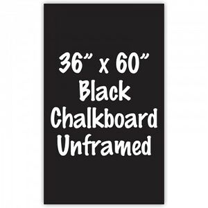 Frameless 36 X 60 Black Chalkboard Menu Board Sign Made In Usa