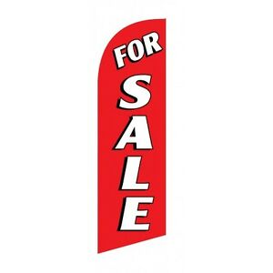 For Sale Real Estate Sign Red Flag Pole Spike Kit Made Usa Tote Bag