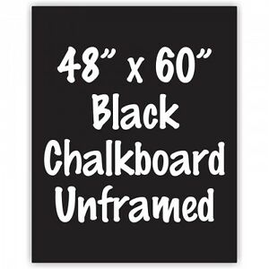 Frameless 48 X 60 Black Chalkboard Menu Board Sign Made In Usa