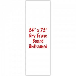 Premium Frameless 24 x 72 Dry Erase Whiteboard Menu Board Sign Made In Usa