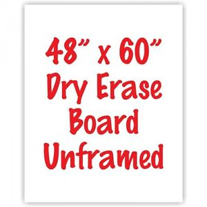 Premium Frameless 48 X 60 Dry Erase Whiteboard Menu Board Sign Made In Usa