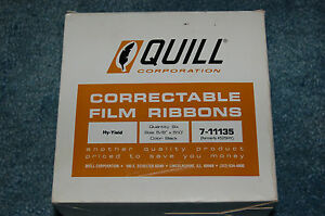 Quill Ibm Selectric Electric Typewriter Correctable Ink Ribbon Film Cartridge