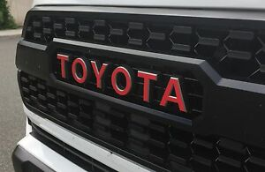 Premium Vinyl Trd Pro Grille Inlay Decals For 2017 2018 Toyota Tacoma