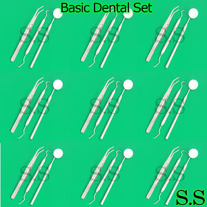 93 Instruments Basic Dental Set Mirror Explorer College Plier stainless Pr 142
