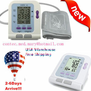 Us Fda Digital Blood Pressure Monitor Sphygmomanometer Contec08c Free Software