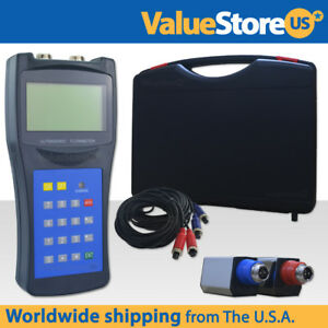 Portable Ultrasonic Flow Meter With Small Transducers Pipe 20 To 100 Mm Usf 100