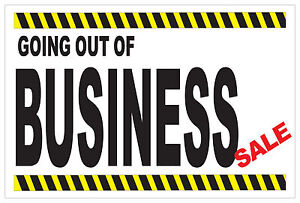 Going Out Of Business Sale Sign 2 1 2 X 6 Vinyl Banner W 6 Brass Grommets