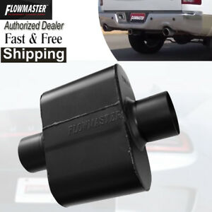 flowmaster 842515 Super 10 Series Muffler 2 5 Inlet Outlet 6 5 Long 9 Wide