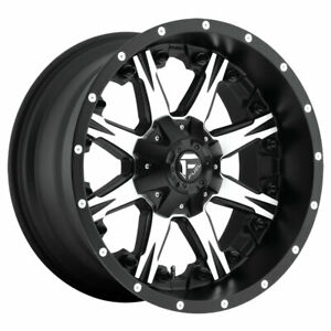 Fuel Nutz Rim 20x10 8x180 Offset 12 Black Machined qty Of 1