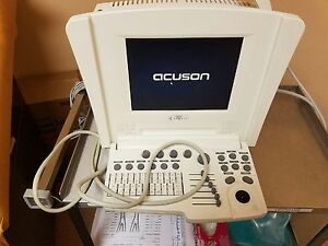 Siemens Cypress Acuson Portable Ultrasound Machine With 7l3c Probe