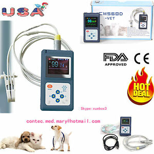 Vet Animal Pulse Oximeter Veterinary Spo2 Pr Monitor With Tongue Probe usb sw Us