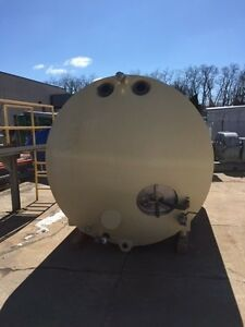 3000 Gallon Sanitary Horizontal Glycol Jacketed Tank