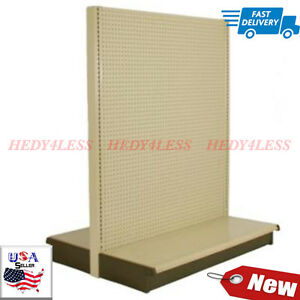 New Store Display Fixtures Double Sided Gondola Display Almond 60 h Starter Unit