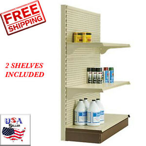 New Metal Shelving Gondola End Cap Merchandise Units 60 h X 36 w X 16 d