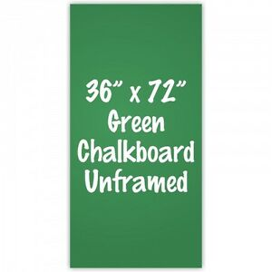 Frameless 36 X 72 Green Chalkboard Menu Board Sign Made In Usa