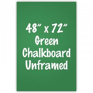 Frameless 48 X 72 Green Chalkboard Menu Board Sign Made In Usa