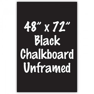 Frameless 48 X 72 Black Chalkboard Menu Board Sign Made In Usa